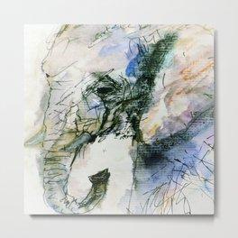 Elephant Queen Metal Print