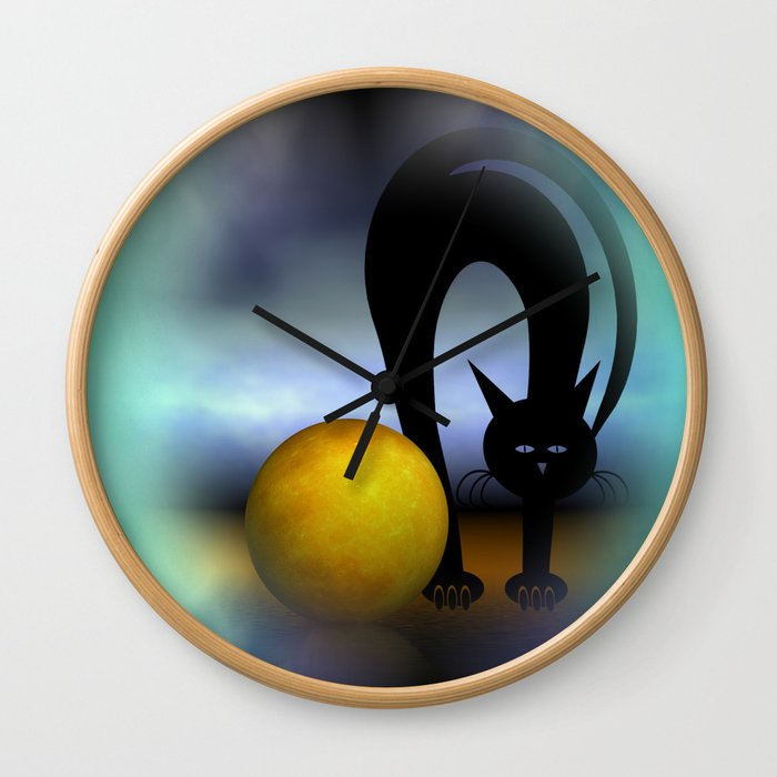 mooncat's property Wall Clock