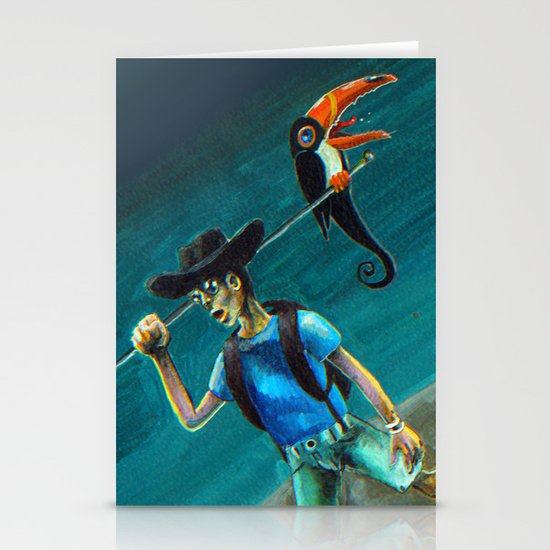 Walking with my Tucan. Stationery Cards