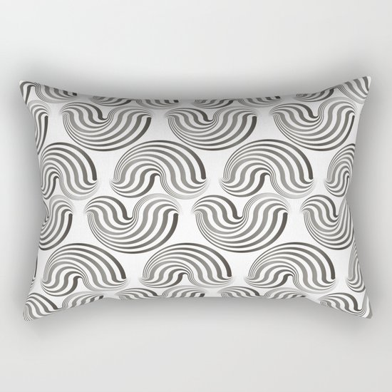 Black and white pattern - Optical game12 Rectangular Pillow