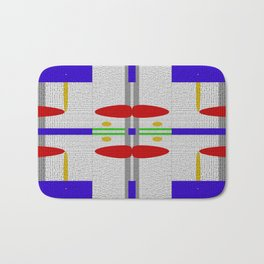 Shades of grey with different colors Bath Mat