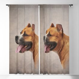 American Staffordshire Terrier 6 Blackout Curtain