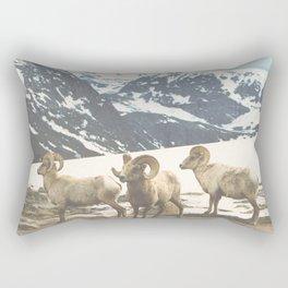 Rocky Mountain Bighorn Sheep Rectangular Pillow