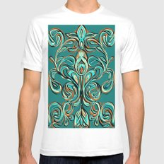 swirls Mens Fitted Tee White SMALL