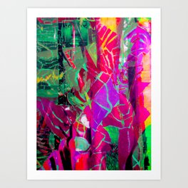 Floral Hybridity, Race and Womanhood Art Print