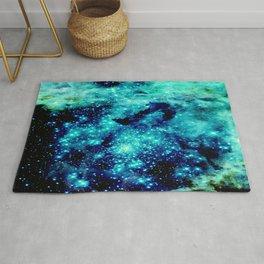 GALAXY. Teal Aqua Stars Rug