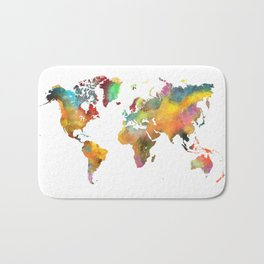 world map 4 Bath Mat