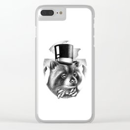 PROPERLY DRESSED FOR A SPECIAL OCCASION Clear iPhone Case