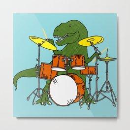 T-Rex Drummer Metal Print