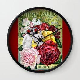 Sweet Roses Wall Clock