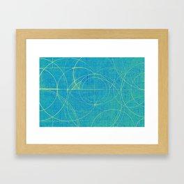 Aurea (Cyan Version) Framed Art Print