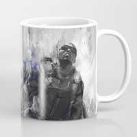 falcon Mugs featuring The Falcon by Wisesnail