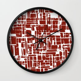 Crimson red abstract Wall Clock