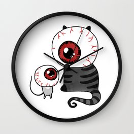 Cat & Mouse – Horror Eyes Wall Clock