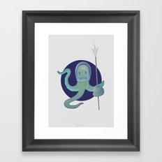 Lil Alien - Squiddy  Framed Art Print