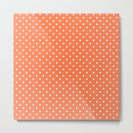 Dots (White/Coral) Metal Print