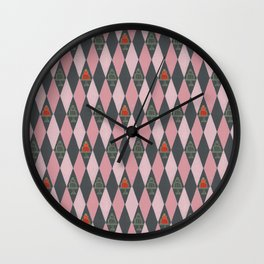 Argyle Jelly Molds Wall Clock