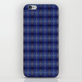 Peacock Blues Pattern iPhone Skin