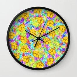 Hawaiian Yellow Flowers Wall Clock