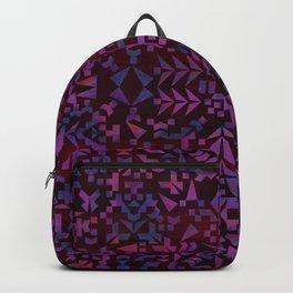 Makai Geometric Purple Backpack