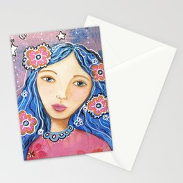 Flower Child Mixed Media Stationery Cards
