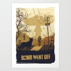 Bomb Went Off (Fallout 4) Art Print