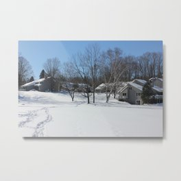 Wildwood on Walloon Winter Scene Metal Print