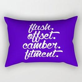 flush offset camber fitment v6 HQvector Rectangular Pillow
