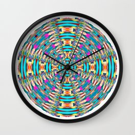 321 - Abstract Colourful Orb design Wall Clock