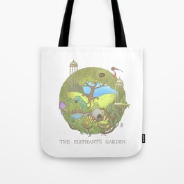 The Elephant's Garden - Version 1 Tote Bag