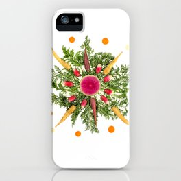 Mixed Carrot Snowflake iPhone Case