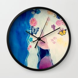 Butterfly girl Wall Clock