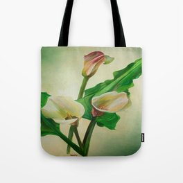 Three Calla Lilies Tote Bag