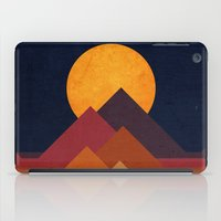 mountain iPad Cases featuring Full moon and pyramid by Picomodi
