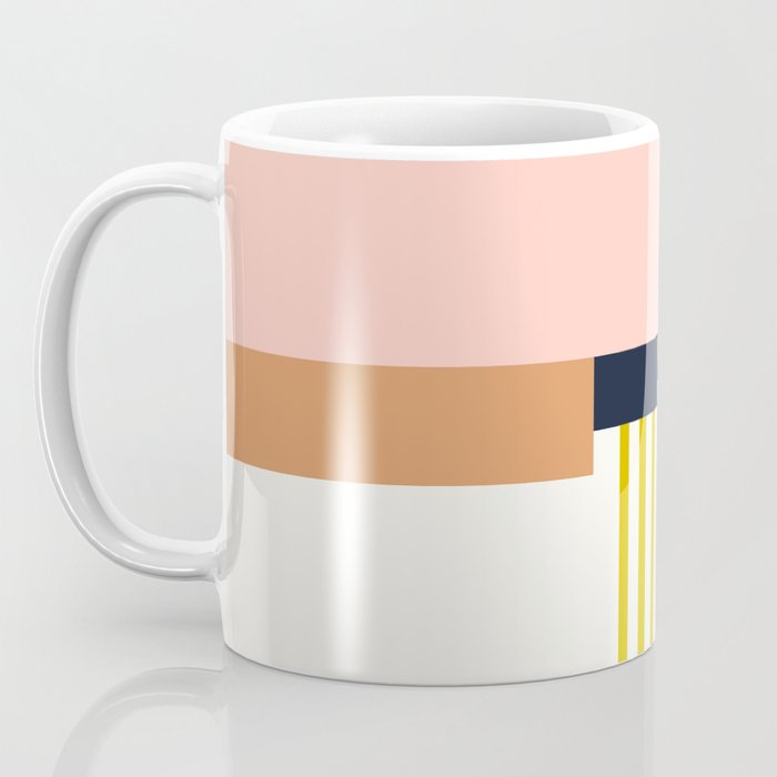 Sol Abstract Geometric Print in Multi Coffee Mug