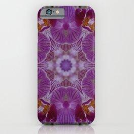 Purple Orchid Flower Kaleidoscope  iPhone Case