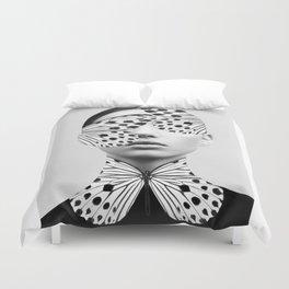 Woman Butterfly Duvet Cover