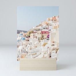 Pastel Oia Mini Art Print