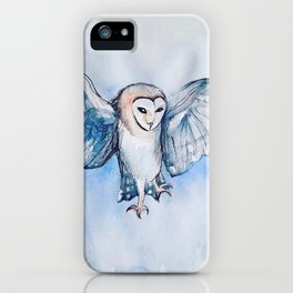 Watercolor owl iPhone Case