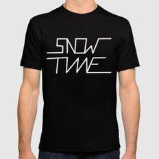 Snowtime Black Mens Fitted Tee MEDIUM