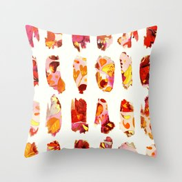 floral bits Throw Pillow