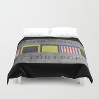 rocky horror Duvet Covers featuring ROCKY by Christophe Chiozzi