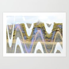 melting tectonic Art Print