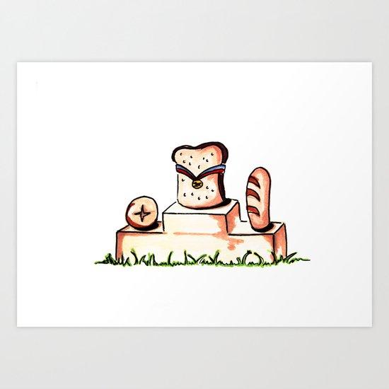 Bread Winner Art Print