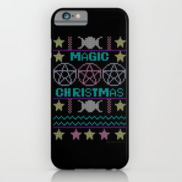 Ugly sweater Magic Christmas iPhone Case