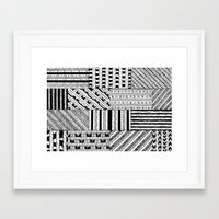 black white Framed Art Prints featuring Black&White White&Black by Kaitlyn_Michelle_