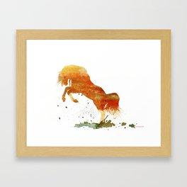 HORSES -Wild mountain pony Framed Art Print
