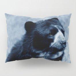 Black bear contemplating life Pillow Sham