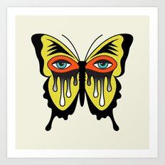 BUTTERFL-EYE Art Print