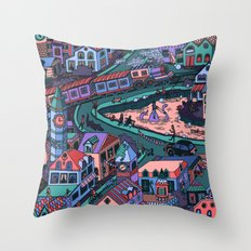 Loch Tess Throw Pillow